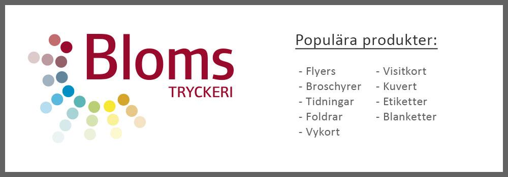 Logga och produkter, Bloms tryckeri